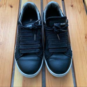 Zadig & Voltaire Stud-Embellished Black Sneakers